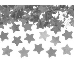 """Konfeti patranka """"Sidabro žvaigždės"""" (60 cm)"""