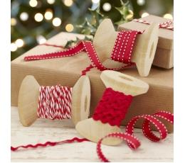"""Dekoratyvinės juostelės """"Raudonos Kalėdos"""" (3 vnt.)"""
