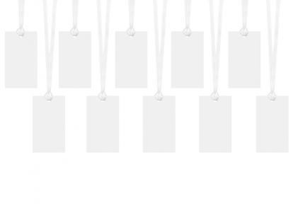 Palinkėjimų kortelės-etiketės, baltos (10 vnt.)