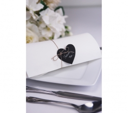 Palinkėjimų kortelės, kreidinės širdelės (10 vnt.) 2