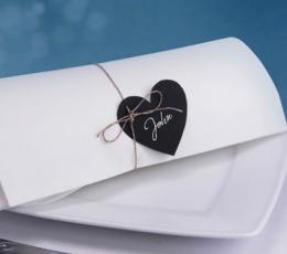 Palinkėjimų kortelės, kreidinės širdelės (10 vnt.) 4