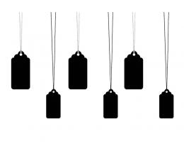 Dekoratyvinės etiketės, kreidinės (6 vnt.)