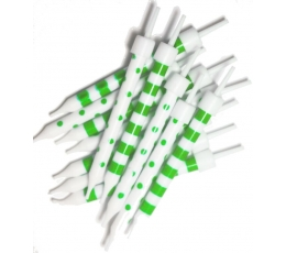 Žvakutės,  žaliai baltos (12 vnt.)