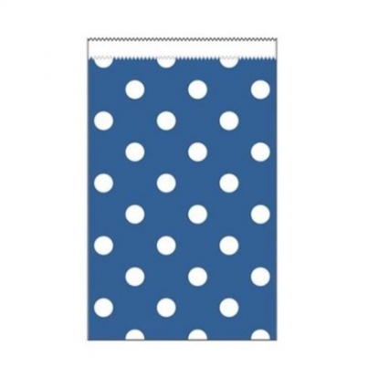 Mini dovanų maišeliai, mėlyni taškuoti (20 vnt.)