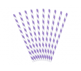Šiaudeliai, violetiniai plačiai dryžuoti (10 vnt.)