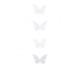 "Girlianda ""Balti drugeliai"" (2 m)"