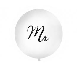"Didelis balionas ""Mr"", baltas (1 m)"