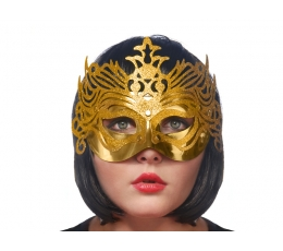 Domino kaukė, auksinė
