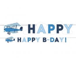 "Girlianda ""Lėktuvėliai. Happy Birthday"" (1,7 m)"