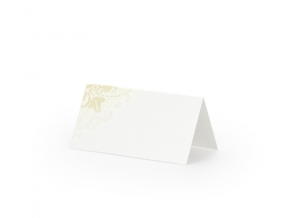 """Stalo-vardų kortelės """"Auksiniai ornamentai"""" (25 vnt.)"""