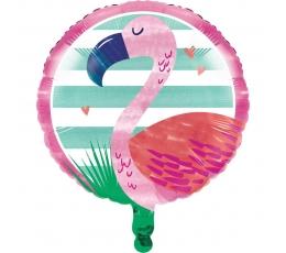 """Folinis balionas """"Rožinis flamingas"""" (45 cm)"""