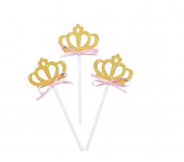 """Smeigtukai-dekoracijos """"Puošnios karūnėlės"""" (8 vnt./10 cm)"""