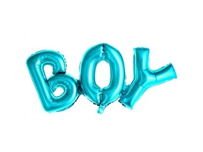 """Folinis balionas """"Boy"""", žydras  (67x29 cm)"""