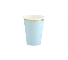 Puodeliai, melsvi aukso krašteliu (6 vnt./220 ml)