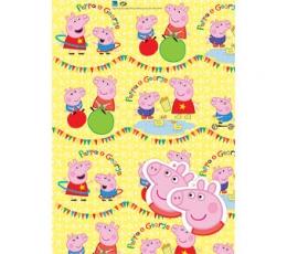 """Dovanų popierius su etiketėmis """"Peppa Pig"""""""