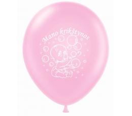 """Balionas """"Mano krikštynos"""", rožinis (30 cm)"""