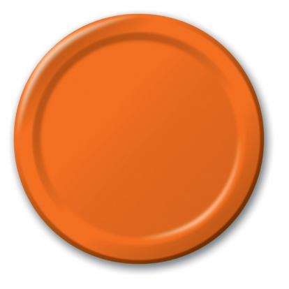 Lėkštutės, oranžinės (8 vnt./17cm)