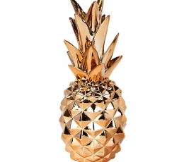"""Dekoracija """"Ananasas"""", rožinio aukso spalvos (24 cm) 1"""