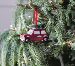 """Dekoracija-eglutės žaisliukas """"Vežu Kalėdų eglę"""" 1"""