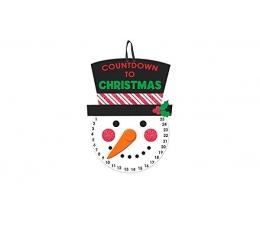 """Dekoracija """"Kalėdų laikrodukas"""" (40x25 cm)"""