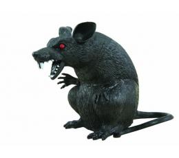 "Dekoracija ""Žiurkė"", juoda (18 cm)"