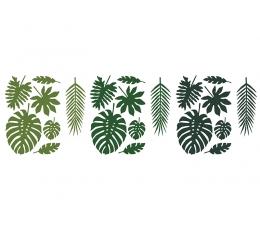 """Dekoracijos-karpiniai """"Tropikų lapai"""" (21 vnt.)"""