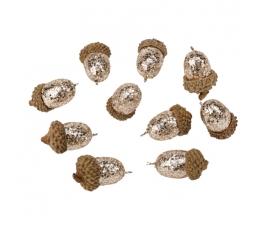 Dekoratyvinės gilės, auksinės (10 vnt./3,5 cm)
