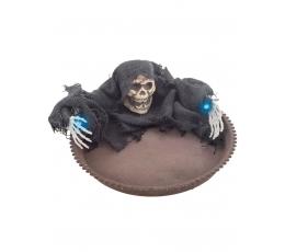 """Dekoratyvinis šviečiantis padėklas """"Kaukolė"""" (22 cm)"""