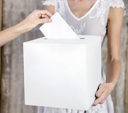 Dėžė palinkėjimams/pinigams, balta 1