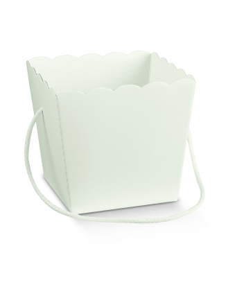 Dėžutė-kibirėlis, balta (10X10X14,5 cm)