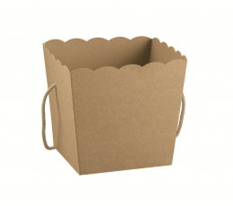 Dėžutė-kibirėlis, kraftinis  (10X10X14,5 cm)