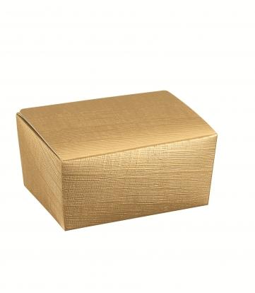 Dėžutė saldumynams, auksinė (15,5X10X7 cm)