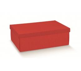 Dėžutė su dangčiu, raudona (34X25X12 cm)