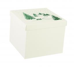 "Dėžutė su dangčiu ""Sniege"", didelė  (30X30X24 cm)"