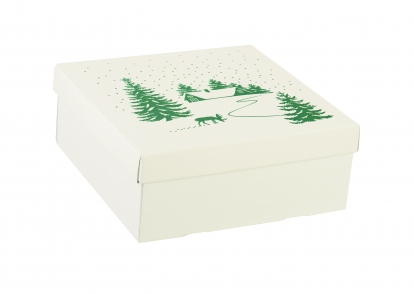 "Dėžutė su dangčiu ""Sniege"", žema (30X30X12 cm)"