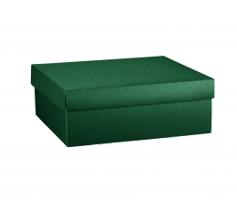 Dėžutė su dangčiu, tamsiai žalia (30X30X11 cm)