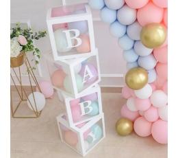 """Dėžutės-dekoracijos """"BABY"""" (4 vnt.)"""