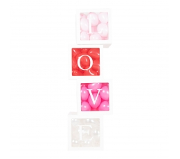 "Dėžutės-dekoracijos ""LOVE"" (4 vnt.)"