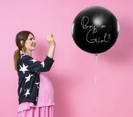 """Didelis balionas """"Kas gims?"""", su rausvais konfeti (1 vnt./1 m) 1"""