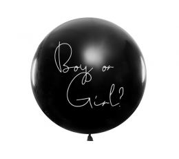 "Didelis balionas ""Kas gims?"", su žydrais konfeti (1 vnt./1 m)"