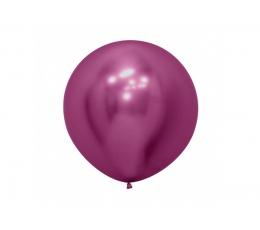 Didelis balionas,  metalizuotas avietinis (60 cm)