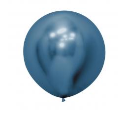 Didelis balionas,  metalizuotas mėlynas (60 cm)