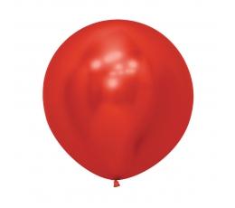 Didelis balionas,  metalizuotas raudonas (60 cm)