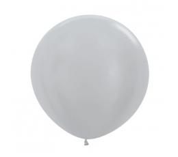 Didelis balionas,  sidabrinis (60 cm)