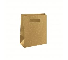 Dovanų krepšelis, auksinis (23X10X30 cm)