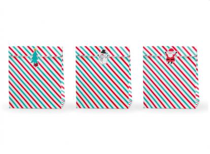 """Dovanų maišeliai """"Kalėdos"""". popieriniai  (3 vnt./25x27 cm)"""