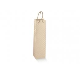 Dovanų maišelis / kreminiai ornamentai (1 vnt./115x115x380 mm.)