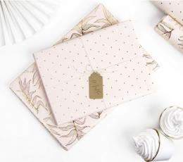 Dovanų pakavimo popierius. rožinis-auksinis (2 vnt./70x200 cm) 1