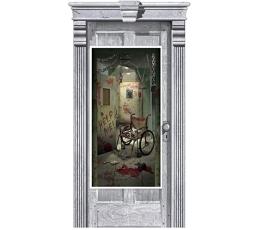 """Durų dekoracija-plakatas """"Pavojus gatvėje"""" (165 x 85 cm)"""