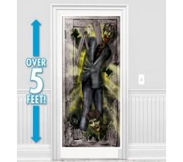 """Durų dekoracija-plakatas """"Zombis"""" (165 x 85 cm)"""